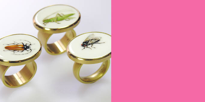 Ceramic Insect Rings